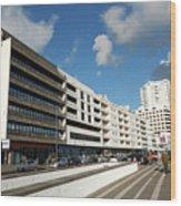Buildings In Ponta Delgada Wood Print