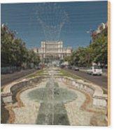 Bukarest Government Palace Wood Print