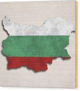 Bulgaria Map Art With Flag Design Wood Print
