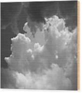 Buliding Storm Wood Print