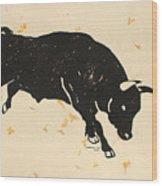 Bull 1 Wood Print