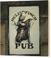 Bull And Finch Pub Wood Print