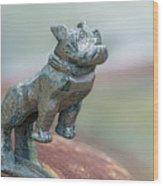 Bull Dog Hood Ornament Wood Print