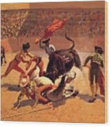 Bull Fight In Mexico 1889 Wood Print