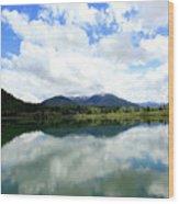 Bull Lake Reflection Wood Print
