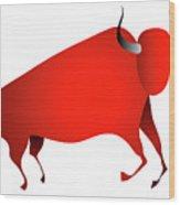 Bull Looks Like Cave Painting Wood Print