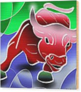Bull Market Wood Print by Stephen Younts