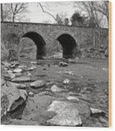 Bull Run Bridge Wood Print