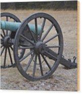 Bull Run Green Cannon In Field Wood Print