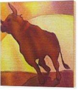 Bull Wood Print