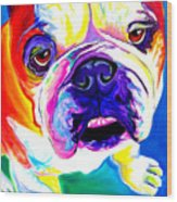 Bulldog - Stanley Wood Print by Alicia VanNoy Call
