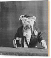 Bulldog, C1905 Wood Print