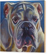 Bulldog Expression 2 Wood Print