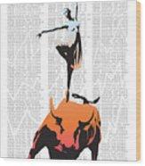 Bullerina Wood Print