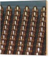 Bullet Points Wood Print