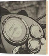 Bullet Speedometer Wood Print