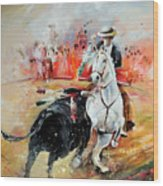 Bullfight 3 Wood Print