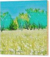 Texas Bull Nettle Wood Print
