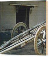 Bullock Cart Wood Print