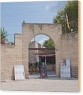Bullring Entrance In Alcudia Wood Print