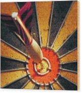 Bulls Eye Wood Print