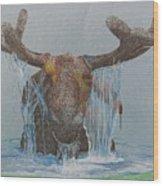 Bullwinkle Wood Print