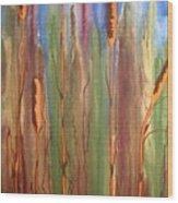Bulrushes Wood Print