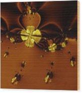 Bumble Beez Over Chocolate Lake . Square . S19 Wood Print