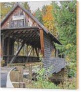 Bump Covered Bridge Wood Print