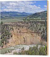 Bumpus Butte Yellowstone Wood Print