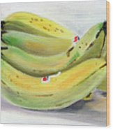 Bunch Of Bananas Wood Print