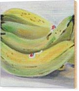 Bunch Of Bananas Wood Print