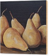 Bunch Of Bosc Pears  Wood Print
