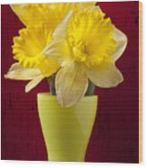 Bunch Of Daffodils Wood Print