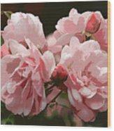 Bunch Of Roses Wood Print