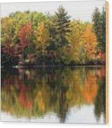 Bunganut Lake Maine Foliage 10 2016 Wood Print