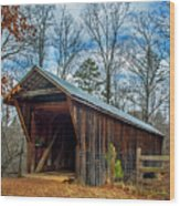 Bunker Hill Cvered Bridge Wood Print