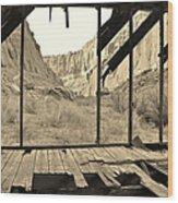 Bunkhouse View 5 Wood Print