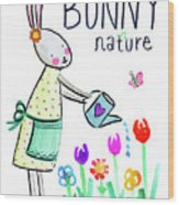 Bunny Nature Wood Print