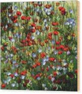 Bunte Sommerwiese Wood Print