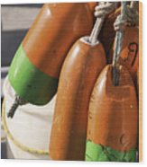 Buoys 1 Wood Print