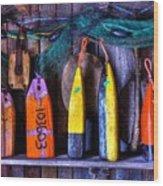 Buoys For Sale  Wood Print