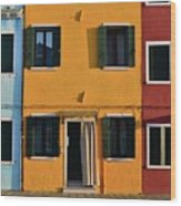 Burano Homes Wood Print
