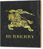 Burberry - Black And Gold - Lifestyle And Fashion Wood Print