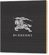 Burberry - Black And White - Lifestyle And Fashion Wood Print