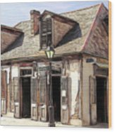 Burbon Street Blacksmith Wood Print