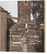 Burdick Kansas Grain Elevator Wood Print