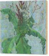 Burdock Leaves  Wood Print