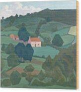 Burford Farm, Devon, 1918 Wood Print