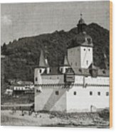 Burg Pfalzgrafenstein Aged Wood Print